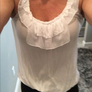CAbi Tops - CAbi tissue tank with ruffle
