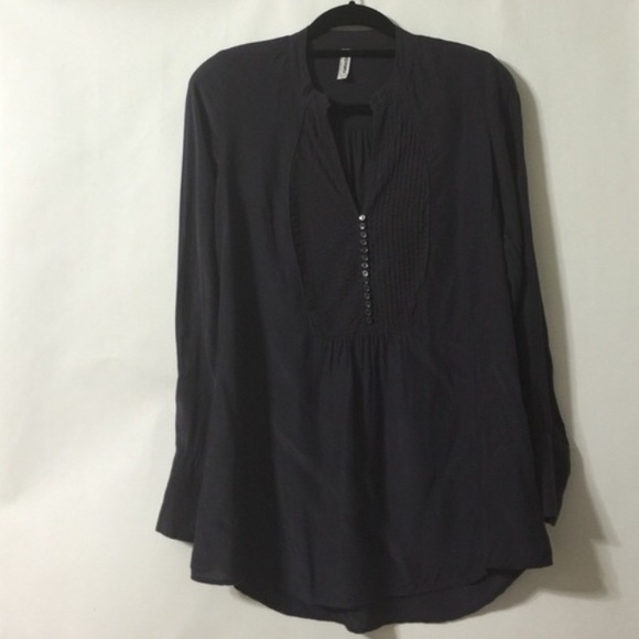 Free People Tops - Free People tuxedo front blouse SALE