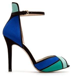 Peep-toe Multi color Heels