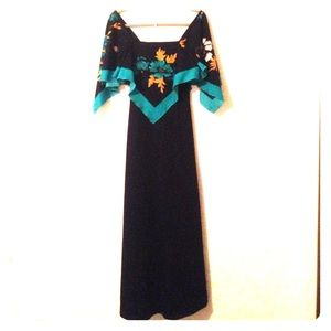 Vintage boho Floral Dress