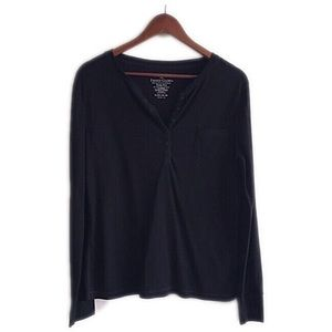 Faded Glory Tops - Faded glory black long sleeve top