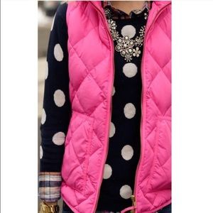 NEW! Neon pink puffer vest quilted jacket