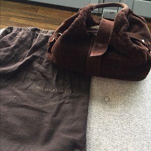 Bottega Veneta brown suede hobo style bag