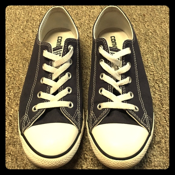 Navy Blue Dainty Converse All Stars 077b4d708