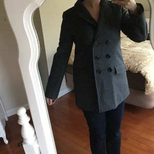 Tulle Jackets & Blazers - Gray Women's Peacoat-Large (Tulle Brand)