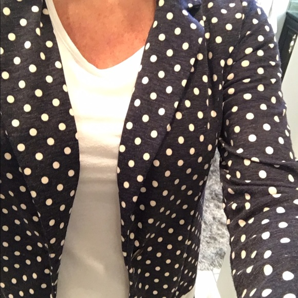 Xhilaration Jackets & Coats - Xhileration knit polka dot jacket