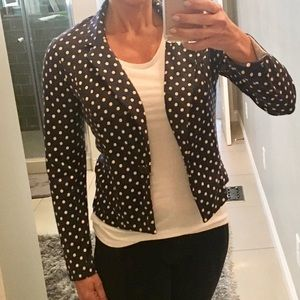 Xhileration knit polka dot jacket