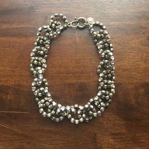 Rose Rhinestone J.Crew Link necklace
