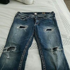 74% off Silver Jeans Denim - Silver Frances 18