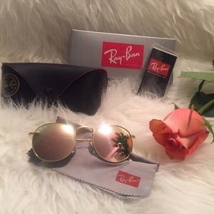 Ray-Ban Accessories - ❄️Ray-ban Round Pink/Gold Sunglasses ❄️