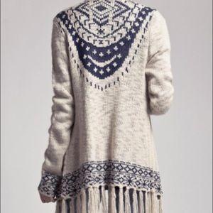 Blu Pepper fringe sweater