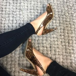 BCBGirls Shoes - Leopard, open toe heels