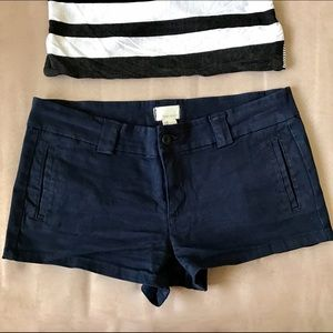 Forever 21 Pants - Forever 21 Navy Cotton Shorts