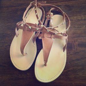 Wild Diva Stud Wrap Sandals