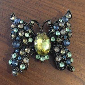 Jewelry - Rhinestone Butterfly Brooch Pin