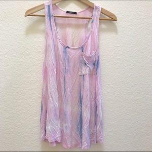 Soprano Tops - B.P. Nordstrom Soprano Pink Tie Dye Pocket Tank