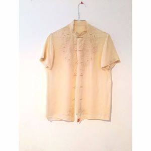 Free People Tops - Vintage Champagne Silk Blouse
