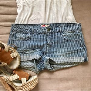 Forever 21 Pants - Forever 21 Blue and White Striped Shorts