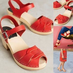 Anthropologie Shoes - Swedish hasbeens peep toe sandal clog 37 anthro