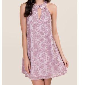 Francesca's Knoxville Lace Halter Shift Dress
