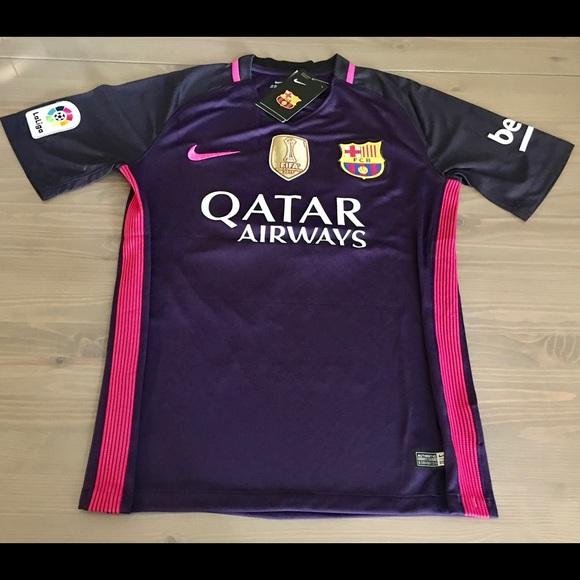 best service b96af 0efc5 Messi #10 16/17 Barcelona away purple soccer NWT