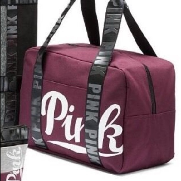 a9205952b36924 VS PINK Burgundy Travel Duffle. M_586420f0b4188e3944025516. Other Bags ...