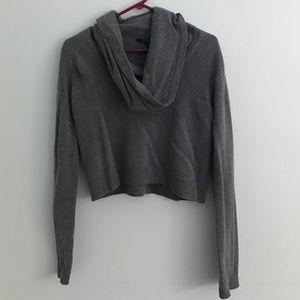 BCBGMaxAzria Sweaters - BCBGMaxazria Grey Crop Top Sweater