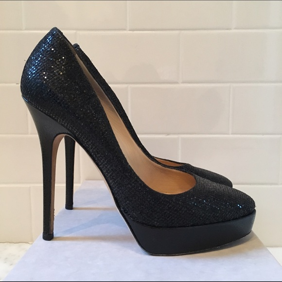Jimmy Choo Woman Cosmic Patent-leather Platform Pumps Black Size 40.5 Jimmy Choo London oFjcbSptxG