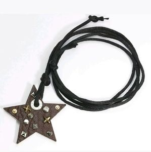 Miss Sixty Jewelry - Miss Sixty Ciondolo Star Leather Pendant Necklace