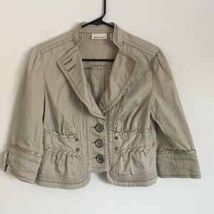DKNY Jackets & Blazers - DKNY S khaki button up cotton jacket