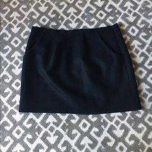J.Crew • black wool mini skirt