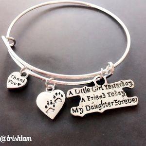 Elegant Jewelry Jewelry - 🔴🆕Daughter/animal lover pawprint silver bracelet