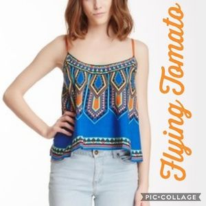 Flying Tomato Tops - Flying Tomato Tribal Print Swing Crop Top