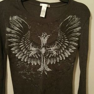 Love Love To Tops - Last Call Donating 4/30 Thermal Top Embellished