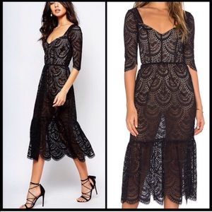 For Love and Lemons Rosalita Midi Dress
