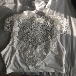 Gorgeous White Lace Crop Top