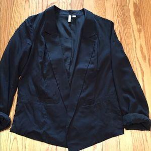 frenchi black buttonless blazer