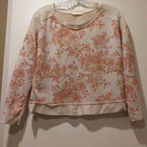 Lush Sweaters - LUSH pink floral cream sweater
