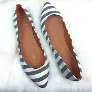 NEW!  MADEWELL 1937 POINTY TOE STRIPED FLATS