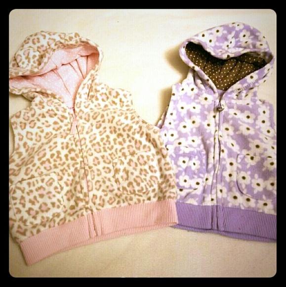 Carter S Jackets Coats Baby Girl Carters Fleece Vests Size 3 Months Poshmark