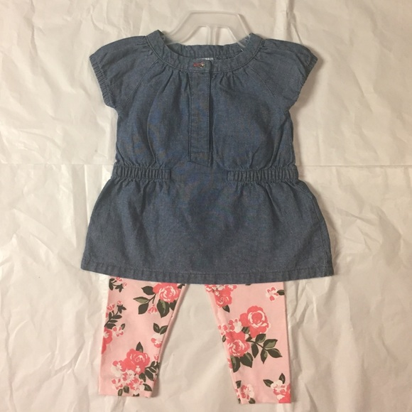 0bceda1a335 Carter's Matching Sets | 2pc Chambray Tunic And Legging Set | Poshmark