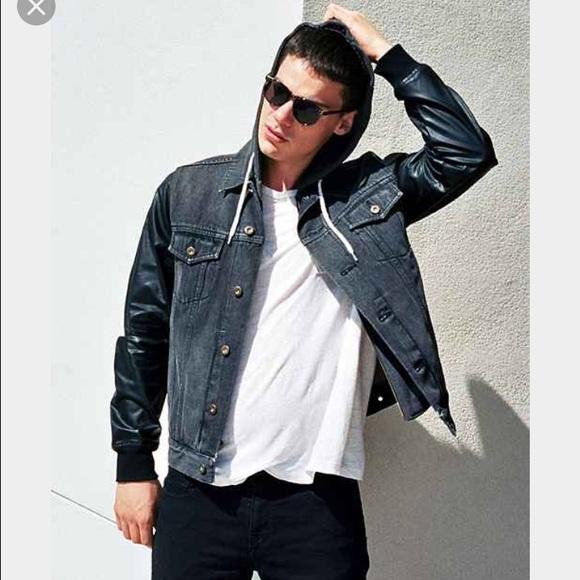 001dc0c75 Your Neighbors faux leather sleeve jacket