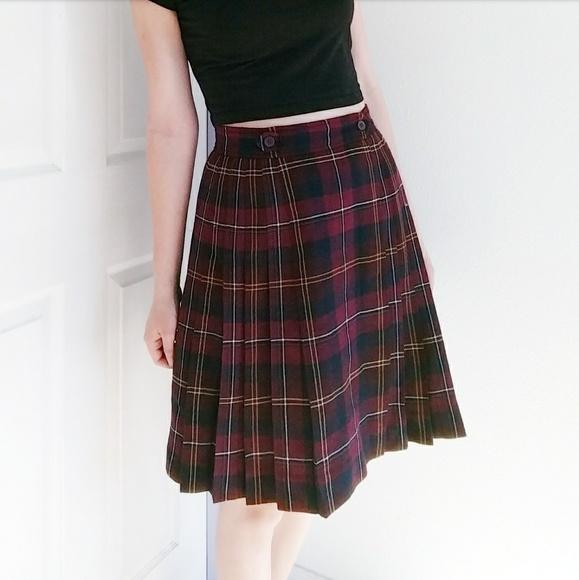 7746ce866 Plaid High Waist 90s Grunge Wool Vintage Skirt. M_594da696620ff79c4202d152