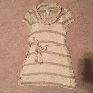 PRICE DROPCream stripe cowl neck maternity top