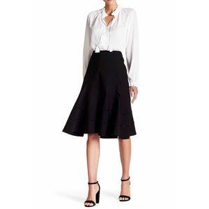 Nanette Lepore Dresses & Skirts - Nanette Lapore Seamed Flippy Skirt in Black