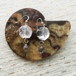 Cultiverre Jewelry - ✂️ S A L E > crystal talisman sterling earrings