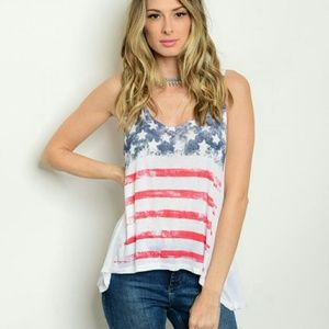 unbranded  Tops - American flag 4th of July americana tank top Large