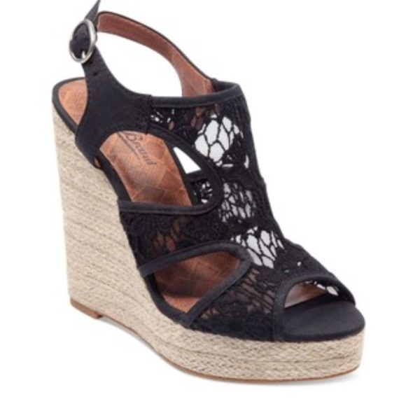 aa41ac2ff6c Lucky Brand Shoes - Lucky Brand black lace wedges