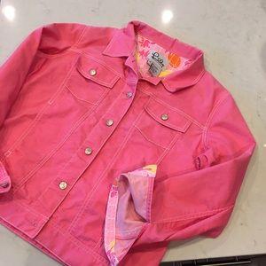 Lilly Pulitzer Jackets & Blazers - Lilly Pulitzer Pink Jean Jacket
