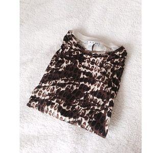CAbi Leopard Print Sweater